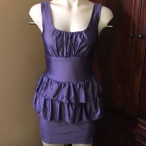 🆕 Finesse Purple Sleeveless Mini Dress-Med